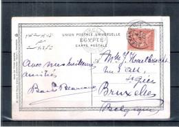 CP Alexandrie Vers Bruxelles En 1907 (à Voir) - Egypt