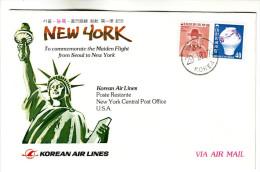 47 Commémorer Le Premier Vol Seoul New York Korean Air Lines Flight Flucht - Airplanes