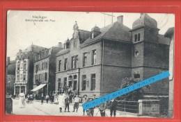 C.P.A. Hayange - Bahnhofstrasse Mit Post - Carte Animée - Hayange