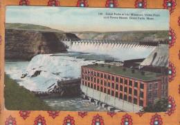 1 Cpa Montana Great Falls Great Falls Of The Missouri - Great Falls