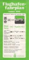 # MUNCHEN FLUGHAFEN RIEM SOMMER 1990 AIRPORT TIMETABLE  Leaflet Aviation Flight Air  Horaire Flugplan Orario Indicateur - Timetables
