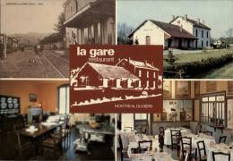 32 - MONTREAL-DU-GERS - Gare - Carte Pub Restaurant - Multi Vues - Autres Communes