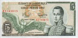 Colombia 5 Peso 1980 Pick 406f UNC - Colombia