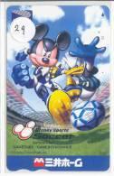 Carte Prépayée Japon (29) DISNEY JAPAN * PREPAID CARD *  FOOTBALL * SOCCER * VOETBAL * Tosho - Disney