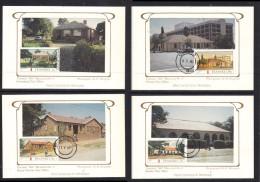Transkei 1984Post Offices Set Of 4 Silk Maxicards, Photo K. Klugman, UMTATA C.d.s.. Set No 057(of 500) - Transkei
