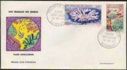 CORAIL / 1963 COTE FRANCAISE DES SOMALIS Enveloppe FDC (ref 2203) - Lettres & Documents