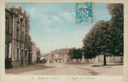 35 PLELAN LE GRAND / La Place De L'Eglise / CARTE COULEUR - Frankreich