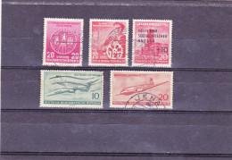 ALLEMAGNE  République  Démocratique  1956  Y.T. N° 243   245   247   253   282  Oblitéré - Usados