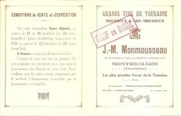 GDS VINS De TOURAINE - MONTRICHARD - Ets J.M.MONMOUSSEAU - Tarif - Invoices