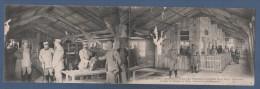 51 MARNE CHALONS EN CHAMPAGNE - MILITARIA WW1 - CP DOUBLE ANIMEE CANTINE DES DEUX DRAPEAUX POUR LES PERMISSIONNAIRES - Châlons-sur-Marne