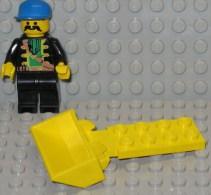 279/250  LEGO  MATTONCINI PIASTRA PIATTA PLAQUE PLATE ORIGINALE 2X4 BENNA SCAVATORE BENNE FOUSSIER GIALLO JA - Lego System