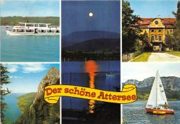 Zs52464 Austria Attersee Multiviews Schloss Kammer Castle Multiviews Sail Boats Bateaux Passenger Ship - Ships