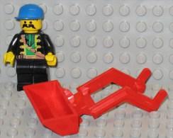 279/251  LEGO MATTONCINI ORIGINALE BENNA SCAVATORE TRATTORE PALA CARICATRICE BENNE FOUSSIER TRACTEUR ROSSO R - Lego System