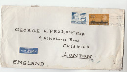 1961 Air Mail  NORWAY Stamps COVER To GB Airmail Label - Brieven En Documenten