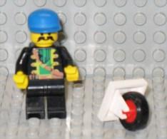 279/102  LEGO PIASTRA PIATTA PLAQUE PLATE 2X2 RUOTINO CARRELLO ROUE PETITE CHARIOT BIANCO BLANC ORIGINALE - Lego System