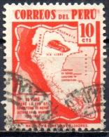 PERU 1938 Automobile Roads In The Andes - 10c - Red  FU - Peru