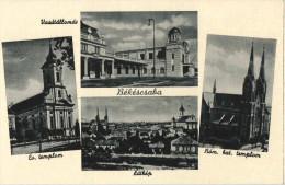 Postcard Sale - 1900-1910´ Years - Bekescsaba City / Railways Station / Catholic Church / View Postcard - Ungarn