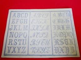 Feuilles En Supplément Du Magazine à La Mode Nationale Numéro 388 Année 1893 Abécédaires, Broderie - Point De Croix