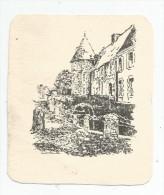 Lithographie , 10.5 X 12 , Maison , Tour - Lithographies