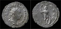 Volusian AR Antoninianus Virtus Standing Right - 5. L'Anarchie Militaire (235 à 284)