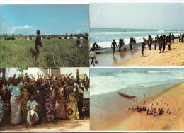 4 Cards - Togo - Togolaise - Scene De Peche - Scene Pastorale - Joie De Vivre - Togo