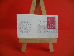Flamme - 13 Bouche Du Rhône, Aix En Provence, Festival De Musique - 26.2.1974 - Postmark Collection (Covers)