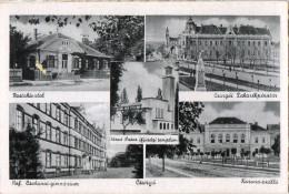 Postcard Sale - 1900-1910´ Years - Csurgo City / Gymnasium / Post Office / Korona Hotel Nice Postcard - Ungarn