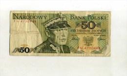 - POLOGNE . BILLET 50 ZL. 1986 . - Poland