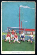 1931 - Fussball Kinder .used Postally  SAAR Stamp In DILLINGEN - Soccer. Germany - SARRE - Football , HUMOR - Football