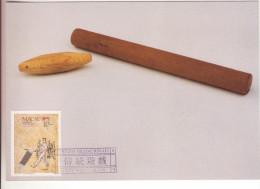 1-Macao-Portogallo-Cartolina Maximum Tema: Sport-Giuochi Tradizionali-1989-Francobollo10 Avos. - 1999-... Regione Amministrativa Speciale Della Cina