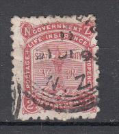 Nieuw Zeeland 1891 Mi Nr 2 E Government Life Insurance  Vuurtoren, Lighthouse,  Met V & R - Oblitérés