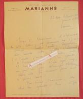 L.A.S Suzanne NORMAND Hebdomadaire Marianne - Prix De L'Académie Française Lettre Autographe à Mme Maurette - Autographes