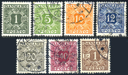 DENMARK 1934 - Postage Due Set Used - Postage Due