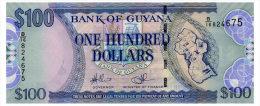 GUYANA 100 DOLLARS ND(1999) Pick 31 Unc - Guyana