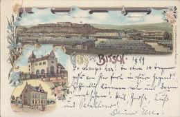 Litho Gruss Aus Bitsch Gelaufen 1.8.99 - Lothringen