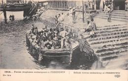 ¤¤  -  SIERRA-LEONE   -  Forces Anglaises Embarquant à FREETOWN En 1914   -  Militaires     -  ¤¤ - Sierra Leone