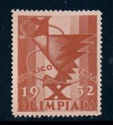 1932 Mexico Olympic Games, Label, MNH