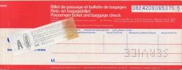 Ticket/Billet D'Avion. Sabena. Athens/Brussels/Athens. 1981. Service. - Europe