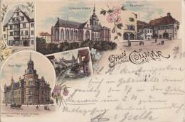 Litho Gruss Aus Colmar Gelaufen 29.6.98 - Elsass
