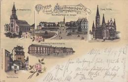 Litho Gruss Aus Mülhausen Gelaufen 29.9.96 - Elsass