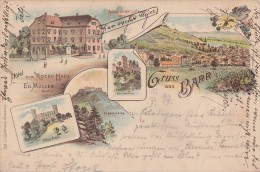 Litho Gruss Aus Barr Gelaufen 16.1.97 - Elsass