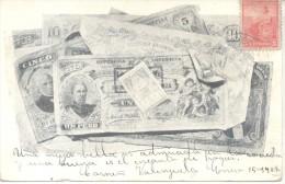 RARE PRECURSEUR PRECURSOR BILLETES Y ESTAMPILLA FISCAL REPUBLICA ARGENTINA RARO PRECURSOR CIRCULADO AÑO 1906 - Munten (afbeeldingen)
