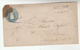 MECKLENBURG SCWERIN Postal STATIONERY COVER To Bremen Via Hamburg Germnay Stamps - Mecklenburg-Schwerin