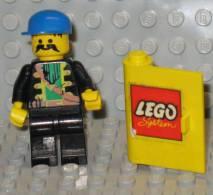 279/149 LEGO MATTONCINI BRIQUE SPORTELLO CON ADESIVO GUICHET AVEC DES ADHÉSIFS GIALLO JAUNE ORIGINALE COSTRUZIO - Lego System