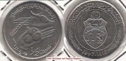 TUNISIA ½ Dinar 1997 KM#346 - Used - Tunisia