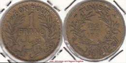 TUNISIA 1 Franc 1921 KM#247 - Used - Tunisia