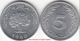 TUNISIA 5 Millimes 1960 KM#282 - Used - Tunisia