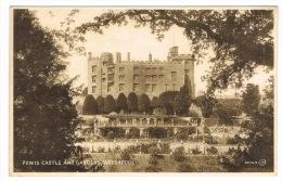 RB 1056 - 1935 Postcard - Powis Castle & Gardens - Welshpool Montgomeryshire Wales - Montgomeryshire