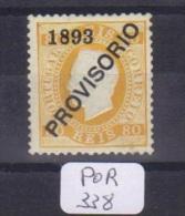 POR Afinsa  94 D. Luis I Surchargé PROVISORIO Type II Papier Porcelana 12 1/2 X - Unused Stamps