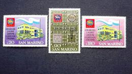 San Marino 977/9 **/mnh, Kongress Der Philatelistischen Presse Italiens In San Marino - Ungebraucht